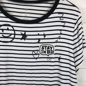 AEO | Soft & Sexy Striped Knit T-Shirt Stay in Bed